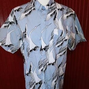 NWT Cuidado con el Perro Bird Crane Shirt L
